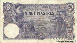 20 Piastres INDOCHINE FRANÇAISE  1913 P.033b TB