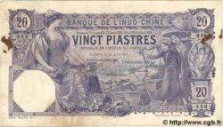 20 Piastres INDOCHINE FRANÇAISE  1913 P.033b TTB