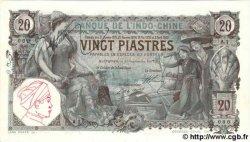 20 Piastres INDOCHINE FRANÇAISE  1907 P.036a SPL