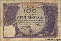 100 Piastres INDOCHINE FRANÇAISE  1919 P.034 B+