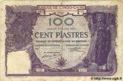 100 Piastres INDOCHINE FRANÇAISE  1919 P.034 TB+