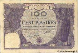 100 Piastres INDOCHINE FRANÇAISE Saïgon 1919 P.039 TTB
