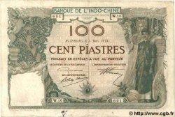 100 Piastres INDOCHINE FRANÇAISE Haïphong 1914 P.018 TTB