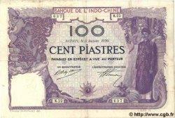 100 Piastres INDOCHINE FRANÇAISE  1920 P.040 TTB