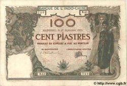 100 Piastres INDOCHINE FRANÇAISE  1925 P.042 TB+ à TTB