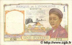 1 Piastre INDOCHINE FRANÇAISE  1935 P.052 TTB+