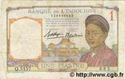 1 Piastre INDOCHINE FRANÇAISE  1936 P.054b TB
