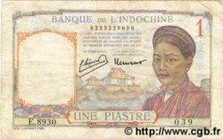 1 Piastre INDOCHINE FRANÇAISE  1946 P.054c TB+