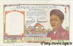 1 Piastre INDOCHINE FRANÇAISE  1946 P.054c TTB+
