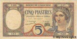 5 Piastres INDOCHINE FRANÇAISE  1926 P.049a pr.SPL
