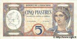 5 Piastres INDOCHINE FRANÇAISE  1926 P.049as SUP