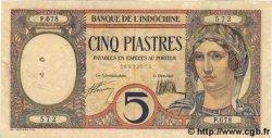 5 Piastres INDOCHINE FRANÇAISE  1931 P.049b SUP