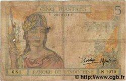 5 Piastres INDOCHINE FRANÇAISE  1936 P.055b B
