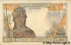 5 Piastres INDOCHINE FRANÇAISE  1949 P.055d TTB+