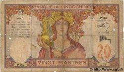 20 Piastres INDOCHINE FRANÇAISE  1931 P.050 B