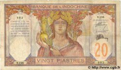 20 Piastres INDOCHINE FRANÇAISE  1931 P.050 TB