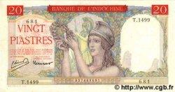 20 Piastres INDOCHINE FRANÇAISE  1949 P.081 SUP+