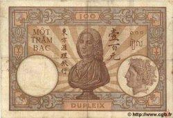 100 Piastres INDOCHINE FRANÇAISE  1926 P.051a TB