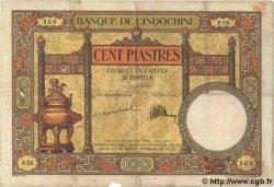 100 Piastres INDOCHINE FRANÇAISE  1926 P.051a B à TB
