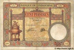 100 Piastres INDOCHINE FRANÇAISE  1931 P.051b TB