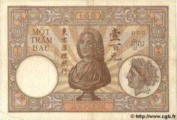 100 Piastres INDOCHINE FRANÇAISE  1935 P.051c TTB
