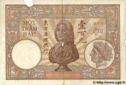100 Piastres INDOCHINE FRANÇAISE  1935 P.051c B