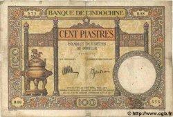 100 Piastres INDOCHINE FRANÇAISE  1935 P.051c B+