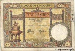 100 Piastres INDOCHINE FRANÇAISE  1935 P.051c TB