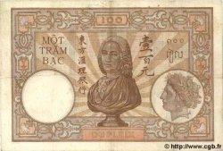 100 Piastres INDOCHINE FRANÇAISE  1935 P.051c TB+ à TTB