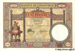 100 Piastres INDOCHINE FRANÇAISE  1935 P.051cs SPL