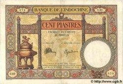 100 Piastres INDOCHINE FRANÇAISE  1935 P.051c TTB+