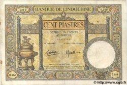 100 Piastres INDOCHINE FRANÇAISE  1939 P.051d TTB