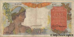 100 Piastres INDOCHINE FRANÇAISE  1954 P.082b B+
