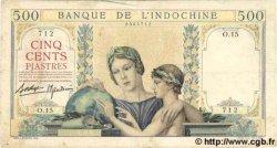 500 Piastres INDOCHINE FRANÇAISE  1939 P.057 TB+