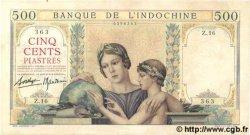 500 Piastres INDOCHINE FRANÇAISE  1939 P.057 SUP+