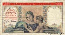 500 Piastres à-plats rouges INDOCHINE FRANÇAISE  1951 P.083 B