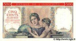 500 Piastres à-plats rouges INDOCHINE FRANÇAISE  1951 P.083s