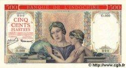 500 Piastres à-plats rouges INDOCHINE FRANÇAISE  1951 P.083s pr.NEUF