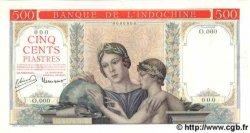 500 Piastres à-plats rouges INDOCHINE FRANÇAISE  1951 P.(083var) pr.NEUF