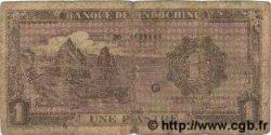 1 Piastre violet INDOCHINE FRANÇAISE  1943 P.060 AB