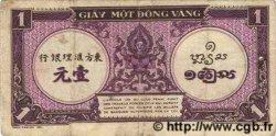1 Piastre violet INDOCHINE FRANÇAISE  1943 P.060 TTB