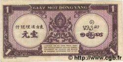 1 Piastre violet INDOCHINE FRANÇAISE  1943 P.060 TTB+