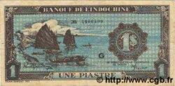 1 Piastre bleu INDOCHINE FRANÇAISE  1944 P.059a TTB