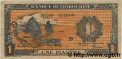 1 Piastre orange INDOCHINE FRANÇAISE  1945 P.058c