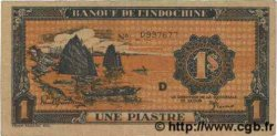 1 Piastre orange INDOCHINE FRANÇAISE  1945 P.058c TTB+