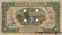 5 Piastres vert / marron INDOCHINE FRANÇAISE  1943 P.061s B+