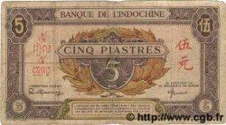 5 Piastres rose, violet INDOCHINE FRANÇAISE  1945 P.064 B+