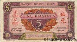5 Piastres rose, violet INDOCHINE FRANÇAISE  1945 P.064 TB+