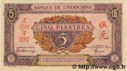 5 Piastres rose, violet INDOCHINE FRANÇAISE  1945 P.064 SPL