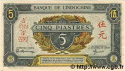 5 Piastres vert / gris vert INDOCHINE FRANÇAISE  1945 P.062a TTB+